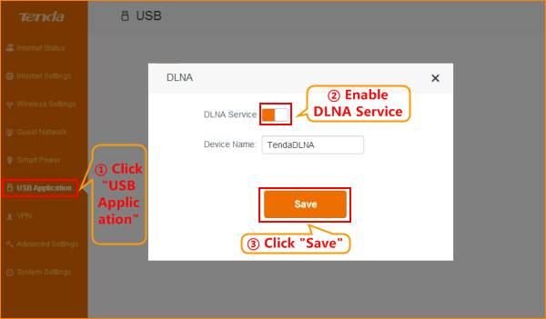 AC15-How to setup DLNA function-Tenda-All For Better NetWorking